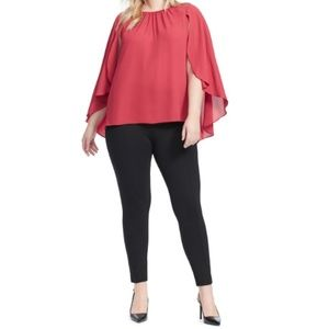 Vince Camuto Womens Blouse Top 3X 26W Red B40-10Z